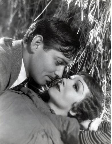 """Clark Gable y Claudette Colbert Colbert en """"Sucedió una noche"""""""