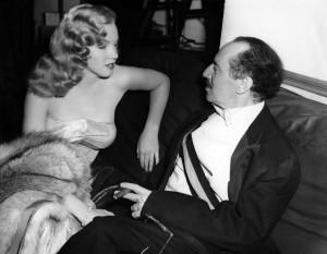 Groucho Marx con Marilyn Monroe